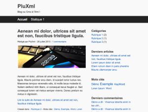 PluXml template defaut