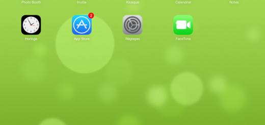 iOS 7, écran d'accueil